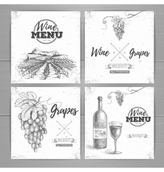 Vintage wine menu design vector