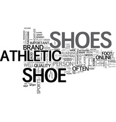 what you should know about athletic shoe text vector image vector image