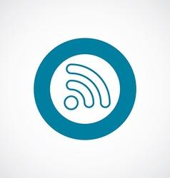 Wifi icon bold blue circle border vector