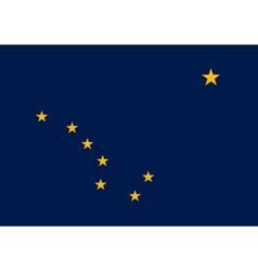 Alaskan state flag vector image