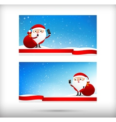Collection of merry christmas card template with vector