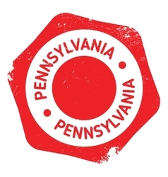 Pennsylvania stamp rubber grunge vector