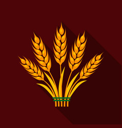 Ears of wheat icon of for web vector