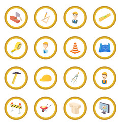 Repair and construction working tools icon circle vector