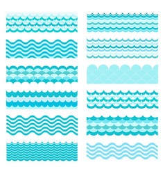 marine waves sea wavy ocean art water design vector image