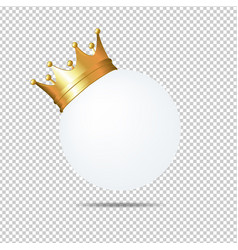 Golden crown on white blank card vector