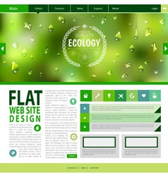 Flat web site design ecology background vector