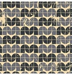 Black ornamental worn textile geometric seamless vector