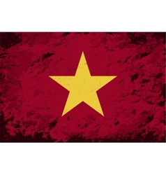 Vietnamese flag grunge background vector