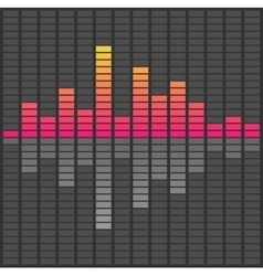 Abstract sound waves equalizer audio pulse music vector