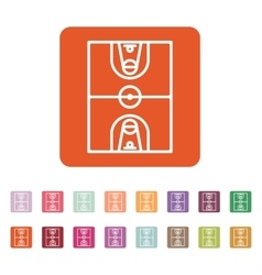 The basketball icon basketball symbol flat vector
