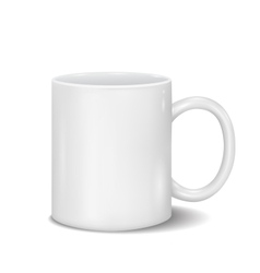 Classic white cup for business branding and vector