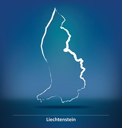 Doodle map of liechtenstein vector