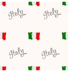Seamless pattern italy flag painted by brush hand vector