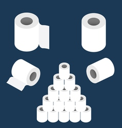 Toilet paper roll set vector