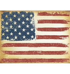 American Themed Flag Background Grunge Aged vector image