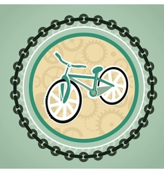 card with bicycle vector image