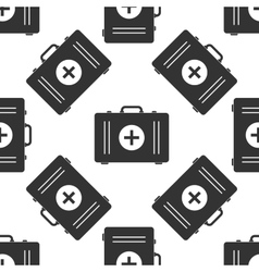 First aid box icon pattern vector