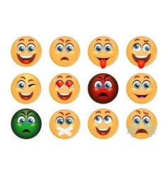 Set of emoticons set of emoji smile icons vector