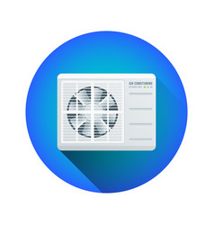 Air conditioning outdoor unit vector