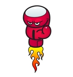 Angry boxing glow vector