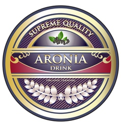 Aronia drink vintage label vector