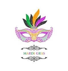 Beautiful mask of lace mardi gras vector