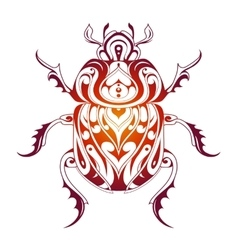 Beetle decorative tattoo vector image vector image