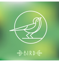 bird icon in outline style vector image vector image