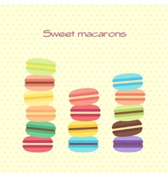 Card with sweet macarons vector