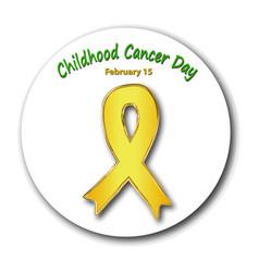Childhood cancer awareness cancer childrens day vector