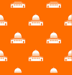 Dome of the rock on the temple mount pattern vector