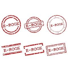 E-book stamps vector