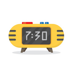 Electronic alarm clock icon vector