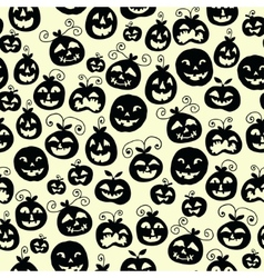 Hand drawn halloween seamless pattern with cartoon vector image vector image
