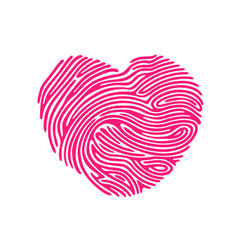 Heart finger print vector