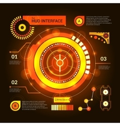 Hud interface orange vector