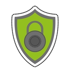 Isolated padlock and shield design vector