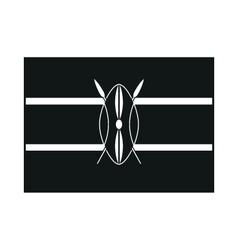 Kenya flag isolated monochrome on white background vector image