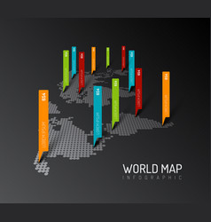 light world map with droplets pointer marks vector image