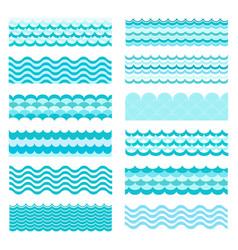 marine waves sea wavy ocean art water design vector image vector image