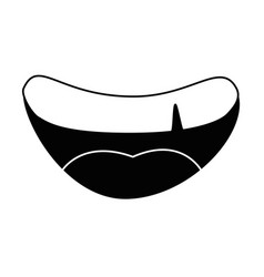 Mouth smiling cartoon vector
