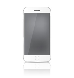 New realistic mobile phone with gray screen vector