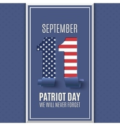 Patriot day abstract background 11 september vector