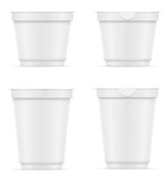 Plastic container of yogurt or ice cream 10 vector