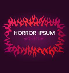purple fiery frame vector image