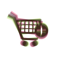 Shopping cart with add mark sign colorful vector