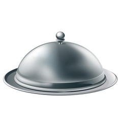 Silver platter vector