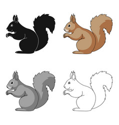 squirrelanimals single icon in cartoon style vector image