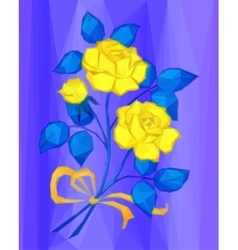 Yellow Flowers Low Poly vector image vector image